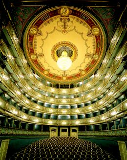 Prague Opera: Theatre of the Estates where Amadeus Mozart himself conducted the world premiere of his Don Giovanni in 1787. Prague opera tickets online